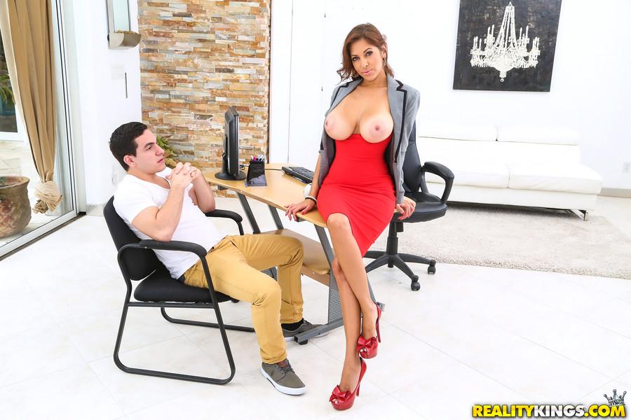 Big tits naked boss nude