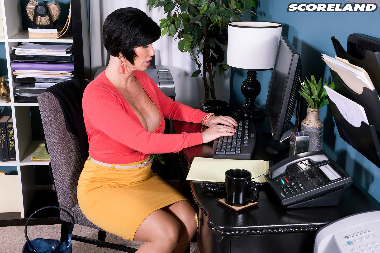 Office Babe Loves Riding